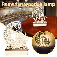 Led Verlichting Ramadan Decoratie Islam Moslim Ledeid Mubarak Houten Geschenken Kan Diy Decoratie Voor Eid Al Fitr Ramadan Ornament