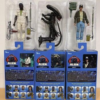 NECA-figuras de acción de Alien, Set de 3 figuras de acción de...