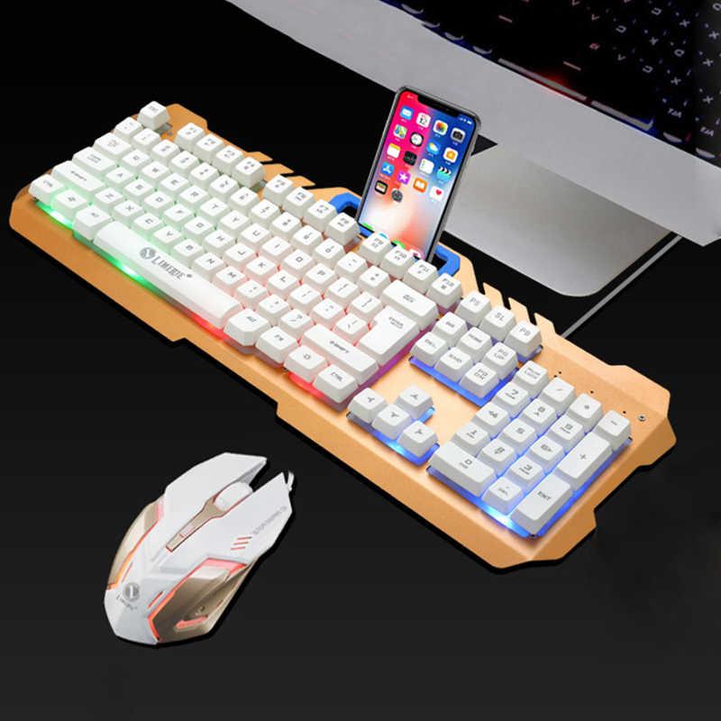 الكمبيوتر لوحة مفاتيح وماوس الألعاب لوحة المفاتيح الخلفية لوحة المفاتيح الميكانيكية للكمبيوتر الألعاب لوحة مفاتيح وماوس Gamer