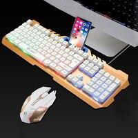 Teclado mecânico backlit do teclado do jogo do rato do teclado do jogo para o gamer do teclado do rato do jogo do computador