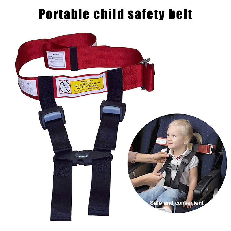Child Safety Airplane Travel Harness Safety Care Harness Restraint System Belt AS99