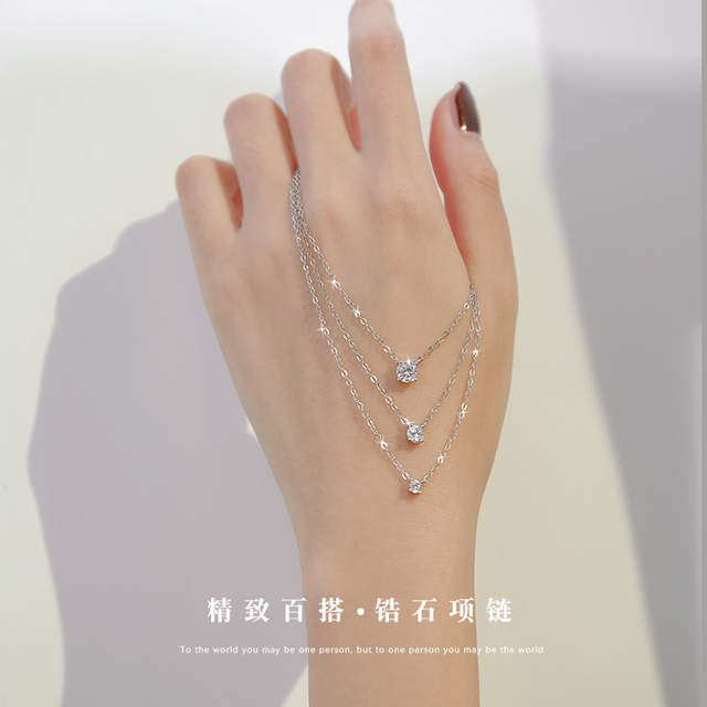 Trendy 925 Sterling Silver O-Chain Necklace 0.3cm/0.4cm/0.5cm Zircon Necklace For Women Gift Summer Fashion Jewelry NK033 1