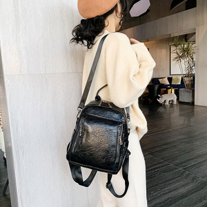 Image 5 - 2020 Vrouwen Rugzak Hoge Kwaliteit Pu Leather Fashion School Rugzakken Vrouwelijke Feminine Casual Grote Capaciteit Vintage Schoudertassen