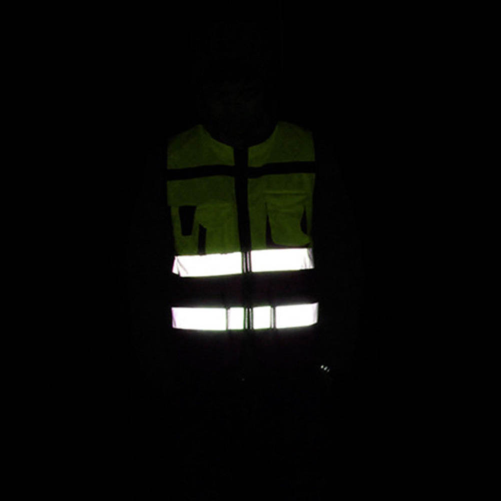 Safety Vest Reflective Driving Jacket Night Security Waistcoat With Pockets JLRL88