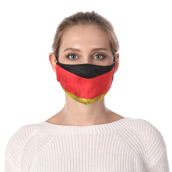 German Flag Printing Face Mask Reusable Protective PM2.5 Filter Mouth Mask Anti Dust Mask Windproof Adjustable Face Masks Face Masks