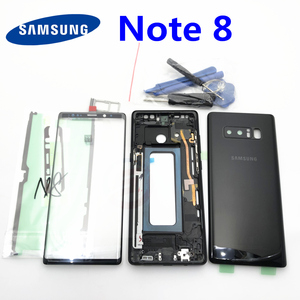 Image 1 - Full Housing Case Back Battery Cover Front Screen Glass Lens  Middle Frame For Samsung Galaxy Note 8 N950 N950F Parts note8