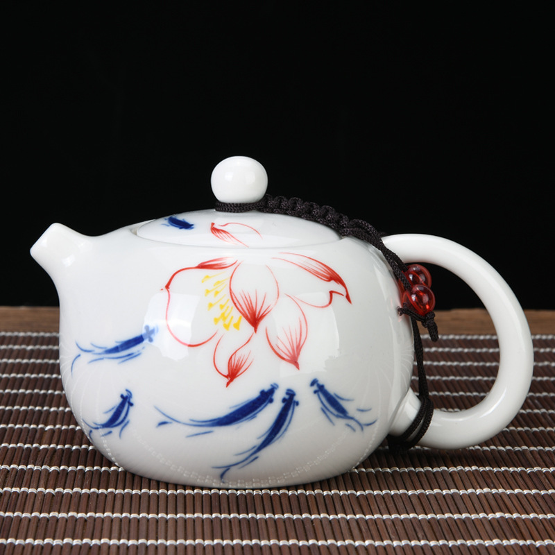 Hollow Out Little Teapot Teapot Ceramic Single Teapot Set Single Japanese Style Xi Shi Pot  Ceramic Tea Pot Tea Carafe ChinaTea
