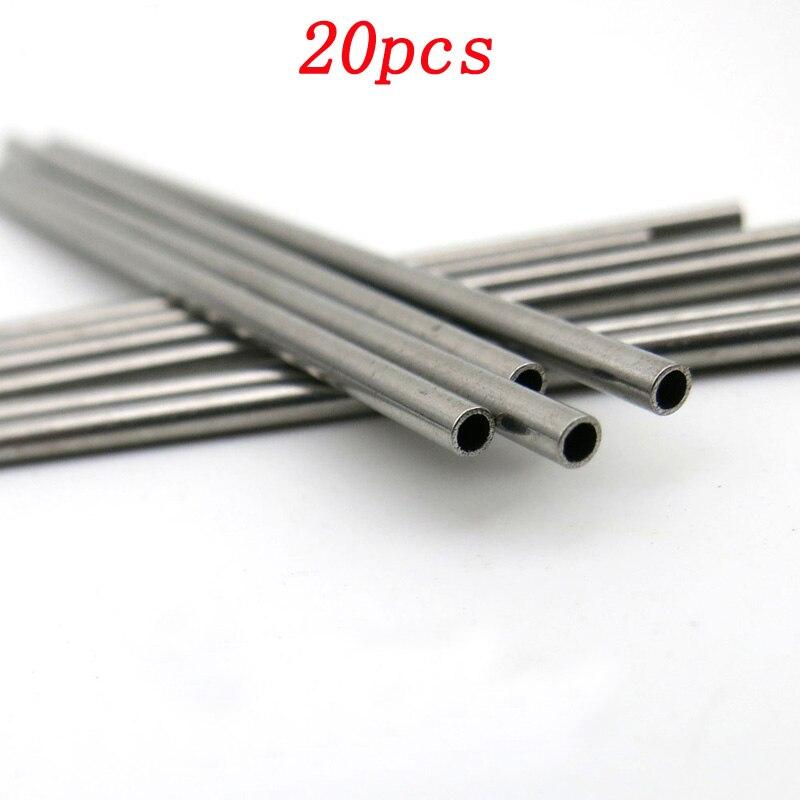 20pcs DIY Model Assembly Material Stainless Steel Hollow Tube Transmission Axle Casing Pipe Shaft Bracket Bearing Tube Bushing