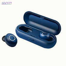 Seovo wireless earphones 5.0 TWS ipx5 waterproof handsfree earphone sport gaming touch earbuds power bank stereo airdots Charger
