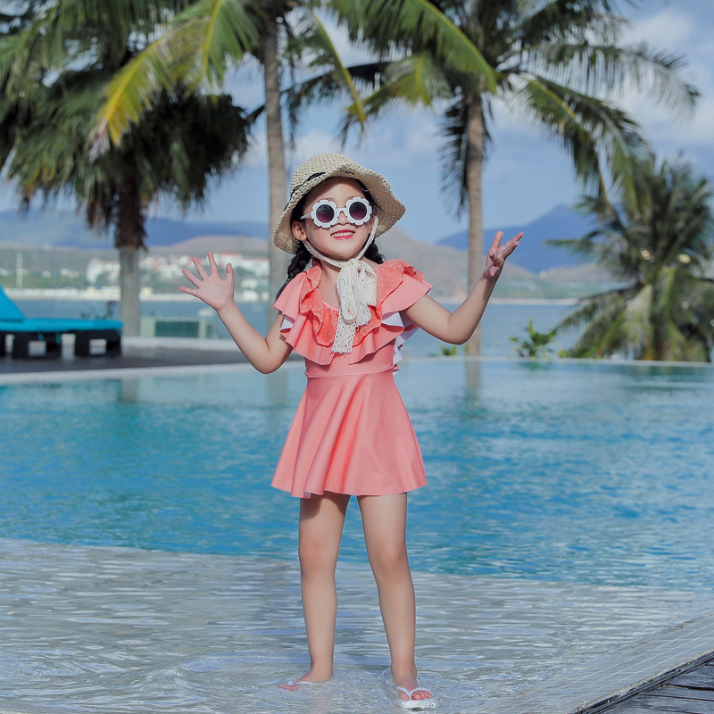 2020 New Style Parent And Child Swimwear Mother Women's One-piece Swimming Suit Sun-resistant Quick-Dry GIRL'S Swimsuit Sporty K
