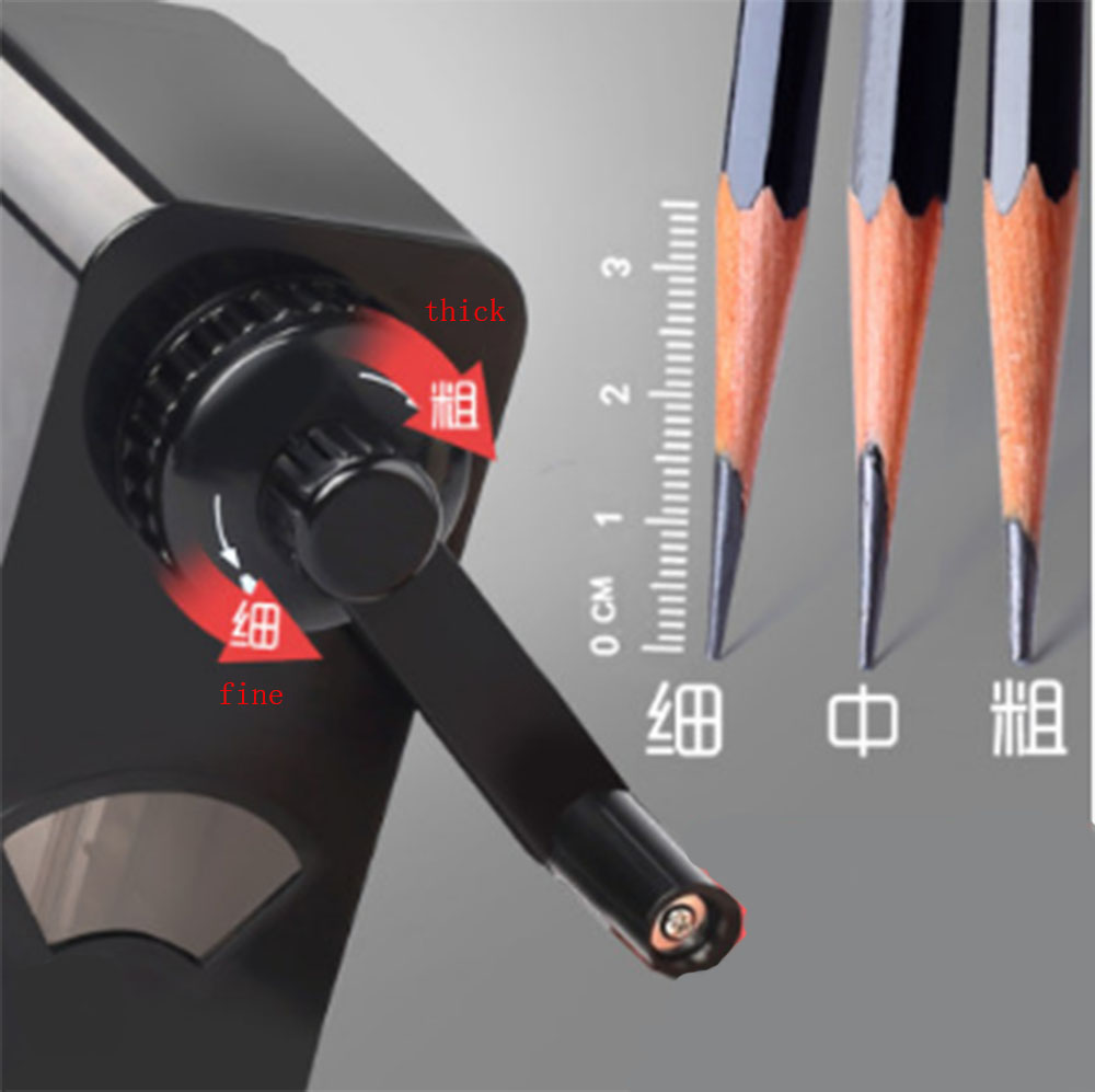 Portable Manual Pencil Sharpener Adjustable Thickness For Sketch Pencil Charcoal Art Dedicated Long Refill Stationery