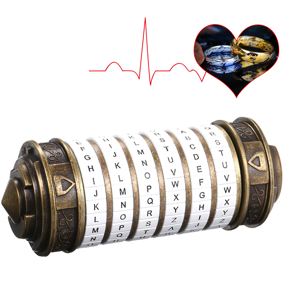 Da Vinci Code Lock Toys Metal Cryptex Locks Retro Wedding Gifts Valentine's Day Gift Letter Password Escape Chamber Props-in Locks from Home Improvement