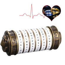 Da Vinci Code Lock Toys Metal Cryptex Locks Retro Wedding Gifts Valentines Day Gift Letter Password Escape Chamber Props