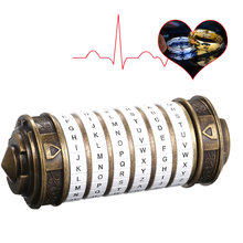 Da Vinci Code Lock Toys Metal Cryptex Locks Retro Wedding Gifts Valentine's Day Gift Letter Password Escape Chamber Props(China)