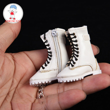 3 Color 1/6 Scale Female Zipper Boots Hollow Shoes for 12 Inches Action Figures