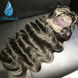 Image 5 - Передние парики SHD для чернокожих женщин, натуральный черный цвет, волнистые бразильские Реми парики, бесклеевое кружево 4x 4/5x 5/7x7, парик на шнуровке