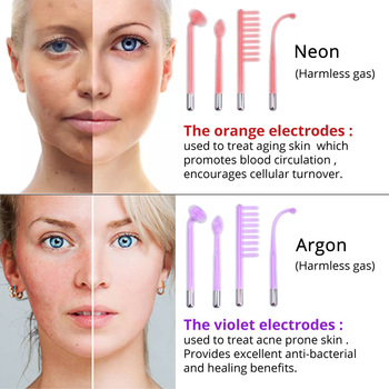 DARSONVAL Portable High Frequency Violet Purple Light Acne Spot Remover Face Massager Massageador Facial Skin Care Device SPA 2