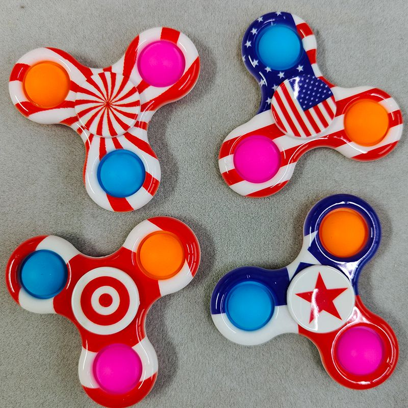 New Simple Dimple Popit Fidget Toys Plus 5 Sides Finger Play Game Anti Stress Fidget Spinner Pop It Colorful img4