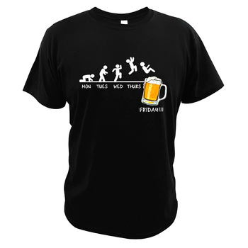 Friday Beer Drinking T Shirt Time Schedule Funny Monday Tuesday Wednesday Thursday Digital Print Summer Gift T-Shirt - discount item  30% OFF Tops & Tees