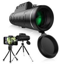 Профессиональный Монокуляр мощный телескоп 40X60 зум оптический HD объектив Монокуляр телескоп+ штатив+ зажим для универсального телефона