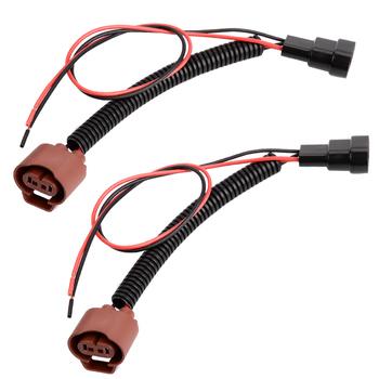 YUNPICAR OEM 9006 HB4 męski Adapter żeński kable w wiązce gniazda wstępnie okablowane złącze do reflektorów światła przeciwmgielne tanie i dobre opinie Drut miedziany