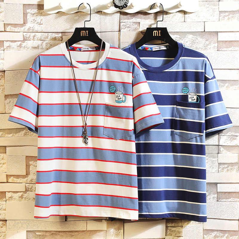 แฟชั่นแขนสั้นแฟชั่น O คอพิมพ์เสื้อยืดผู้ชาย 2019 ฤดูร้อนเสื้อผ้า TOP TEES TShirt PLUS เอเชียขนาด M-5X.