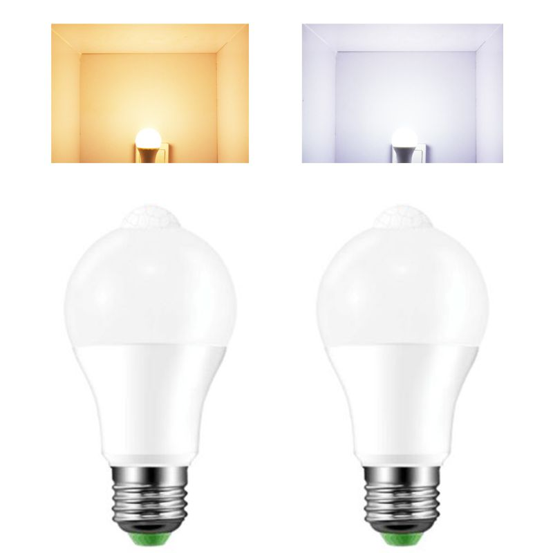 E27 LED PIR Motion Sensor Lamp 10W 85-265V Dusk To Dawn Night Light Bulb Home 94PC