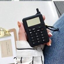 цена на Silicon Wireless Earphone case For AirPods Case luxury cute Retro Mobile Pattern Protective Case For Airpods 2 headphone cover