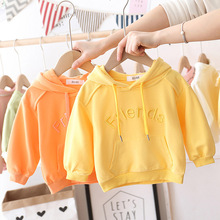 Baby Boys Girls Cotton Letter Sweater Children's Hooded Shir