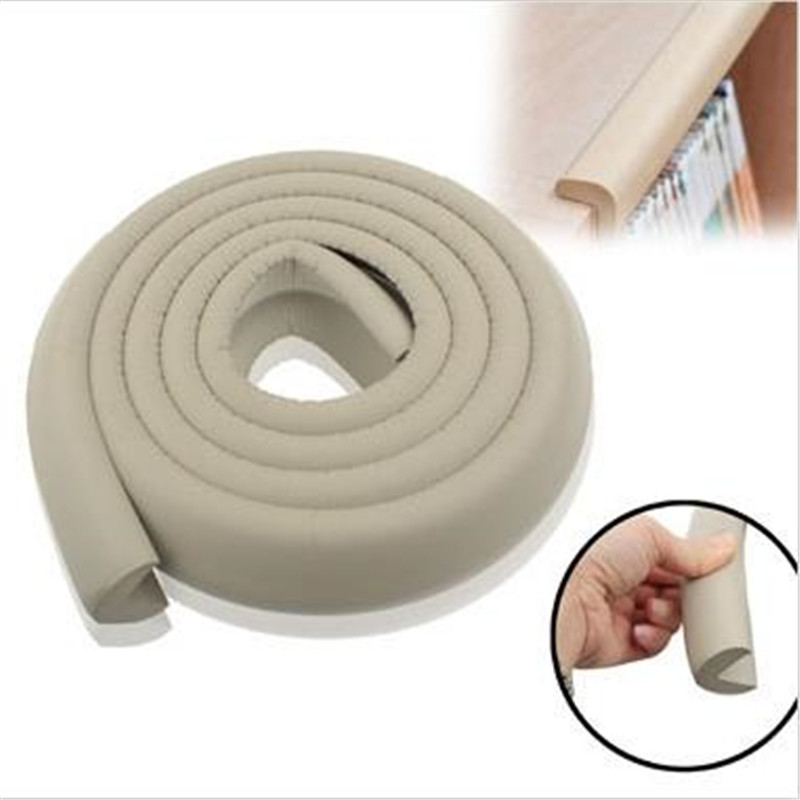 Купить с кэшбэком Hot Selling 2M U Shape Baby Safety Soft Corner Edge Foam Guard Cushion for Glass Table
