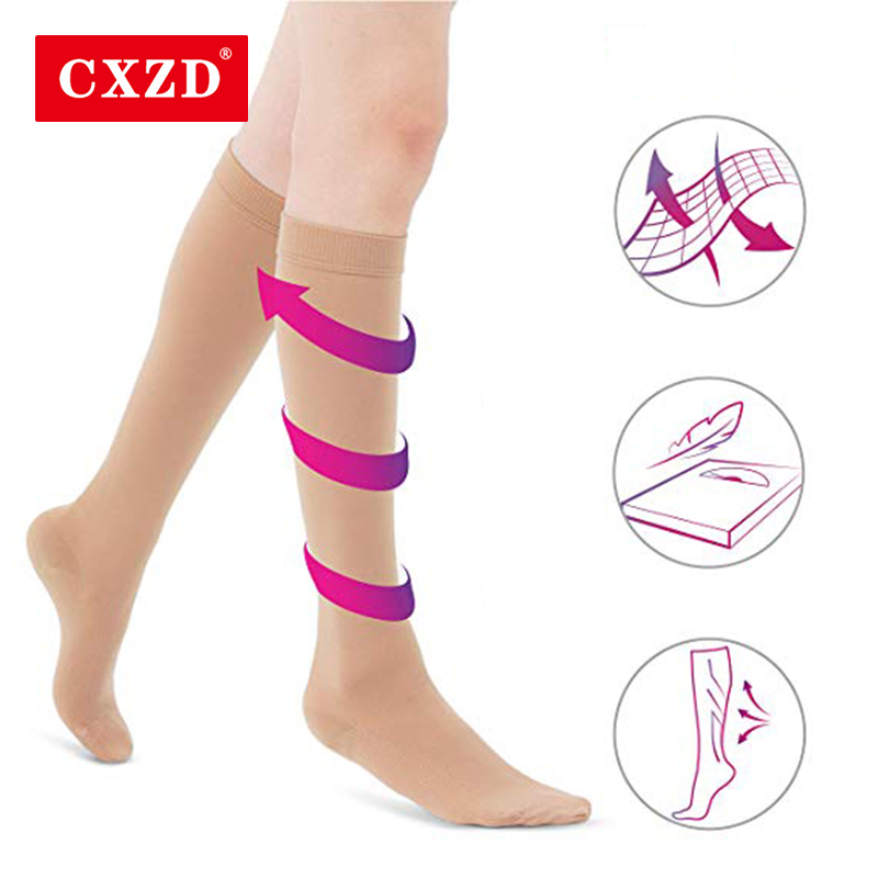 CXZD Medical Varicose Veins Socks Pressure Medical Elastic Sleep Socks Varicose Veins Sock Compression Socks