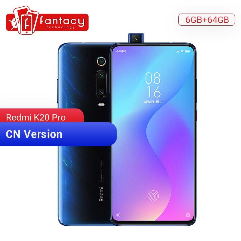 Original xiaomi redmi k20 pro 6 gb 64 snapdragon 855 octa núcleo smartphone 6.39