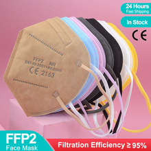 Mouth-Face-Mask Respirator Mascarillas Pink Multicolor Protective Ffp3-Approved Reusable