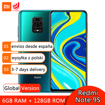 Купить Глобальная версия смартфона Xiaomi Redmi Note 9S 9 S 6 ГБ 128 ГБ Восьмиядерный процессор Snapdragon 720G 48 МП AI Quad Camera 6,67 дюймэкран 5020 мАч