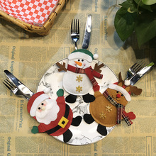 Bag Christmas 63006 Tableware Cutlery-Holder Santa-Hat Reindeer Dinner-Decoration New-Year