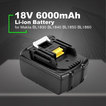 18V 6000mAh Lithium-ion Replacement Battery Lithium Battery Pack Replacement for Makita BL1830 BL1840 BL1850 BL1860 Sale