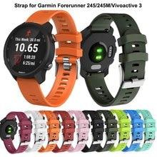 Renkli 20mm saat kayışı kayışı için Garmin öncüsü 245 245M 645 müzik vivomove 3 saat spor silikon akıllı watchband bilezik