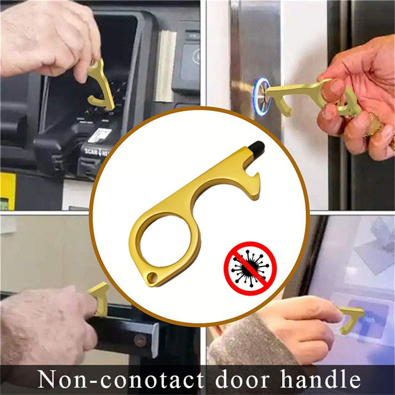 2020 New Arrival Multi Function Non Contact Elevator Handle Key Hygiene Steel Door Opener Disinfection Prevent Secondary Contact