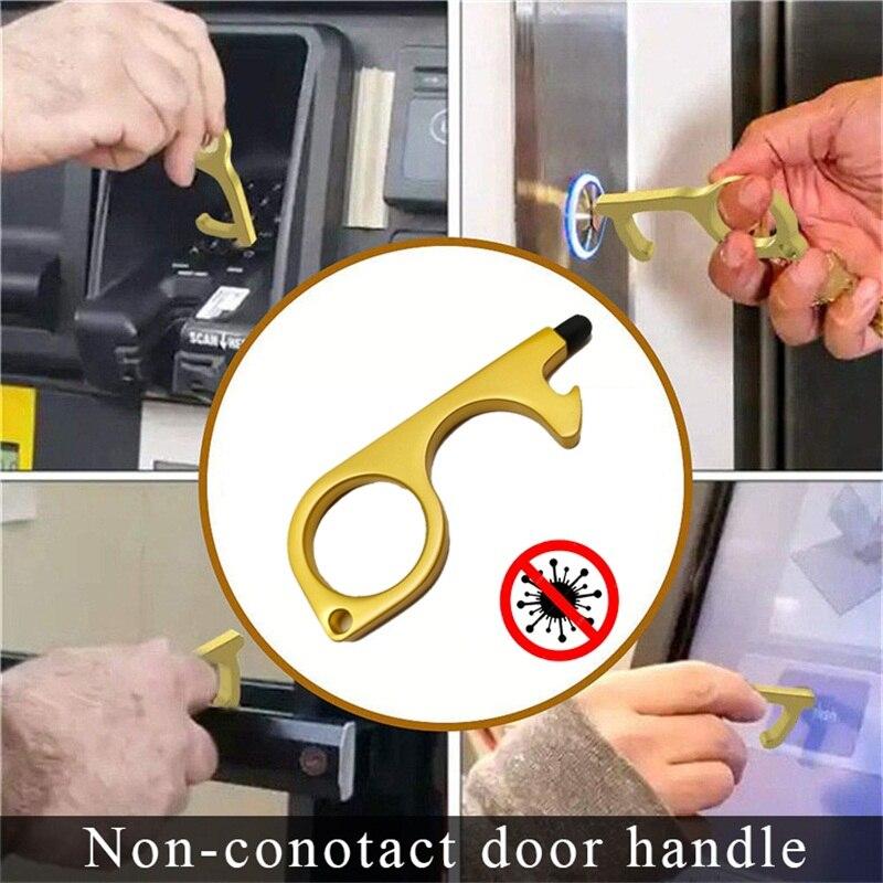 2020 New Arrival Multi Function Non Contact Elevator Handle Key Hygiene Steel Door Opener Disinfection Prevent Secondary Contact