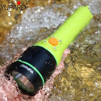 Yupard الأبيض الأصفر ضوء XM-L2 led T6 3 واط مصباح ليد جيب مقاوم للماء تحت الماء الشعلة الغوص غواص 40 متر بطارية مصباح + شاحن