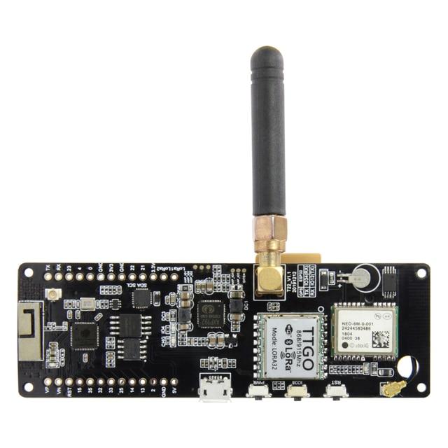LILYGO®TTGO t beam V1.1 ESP32 433/868/915/923Mhz WiFi Bluetooth ESP32 GPS NEO 6M SMA LORA 32 18650 uchwyt baterii z SoftRF