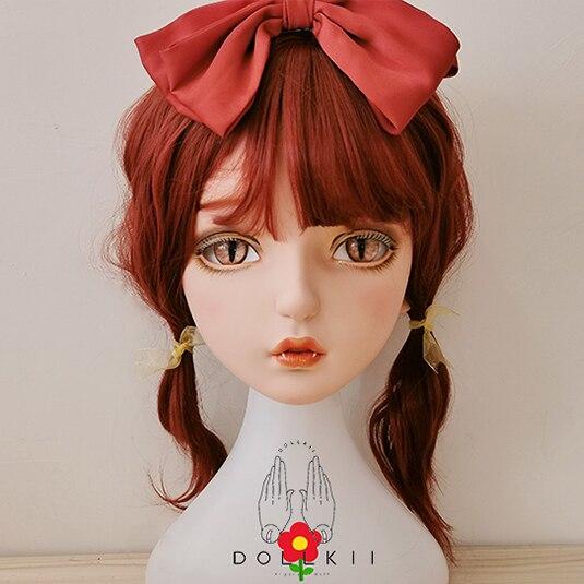 (Dollkii 14) femelle fille résine de silice Cosplay BJD Cross Dressing Kigurumi tête masque Anime jeu de rôle fête Crossdresser poupée masque
