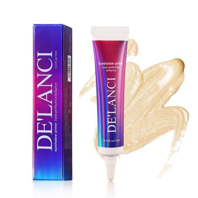 DELANCI Eye Makeup Primer Cream Sequined Primer Eye Lips Makeup Longlasting Glitter Waterproof Eyeshadow Glue Cosmetic TSLM1 3