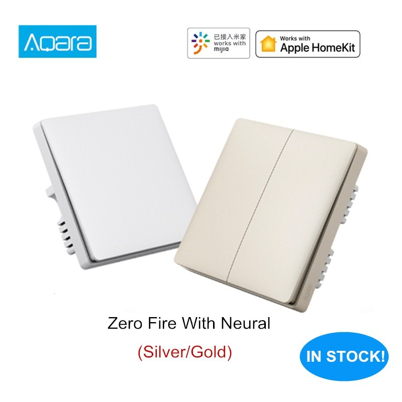 Aqara Wall Switch Panel Intelligent Linkage Light Control Switch Panel Zero Fire Wire Work With Mijia Mi Home APP Apple Homekit