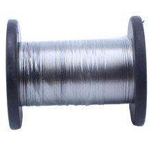 30M 304 In Acciaio Inox Rotolo di Filo Singolo Brillante Hard Wire Cavo di 0.3 Millimetri