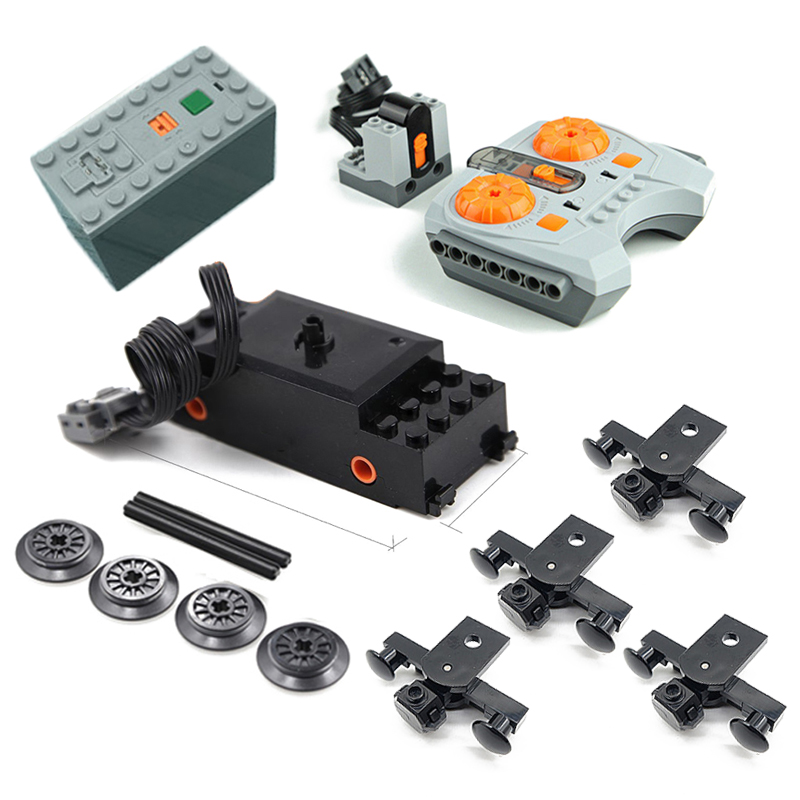 Technic Power Function Motors Remote Control For Legoing 10254 Creator City Christmas Winter Holiday Train Building Blocks Toys