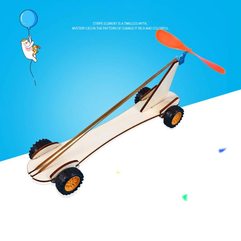 Physical Science Educational Toy DIY Racing Car Air Power Handmade Wind Car Scientific Experiments Kits Toys Gifts For Children