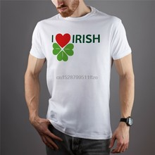 I Love Irish Shirt Short Sleeve Festival T-Shirt Shamrock Tee Saint Patricks Tee New Funny Tee Shirt(China)