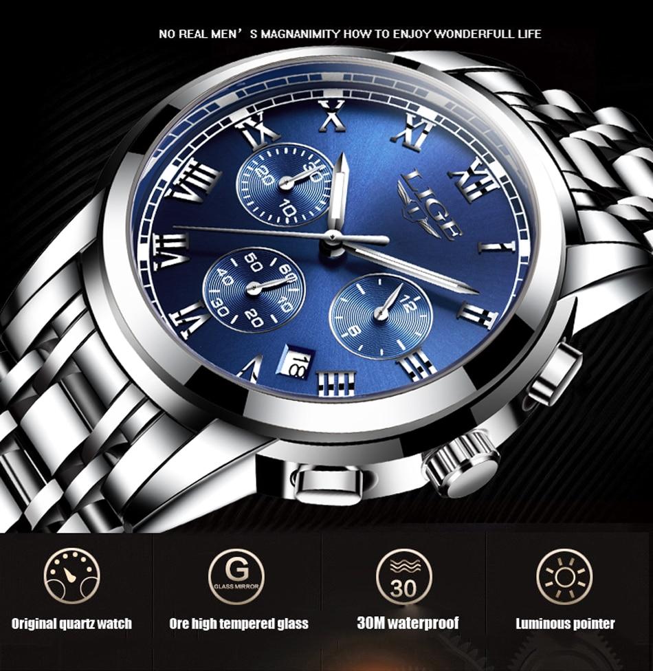 Hc23b7e30d9be46c5bce9cbb4f91aa25b2 Relojes Hombre LIGE New Watches Men Luxury Brand Chronograph Male Sport Watches Waterproof Stainless Steel Quartz Men Watch