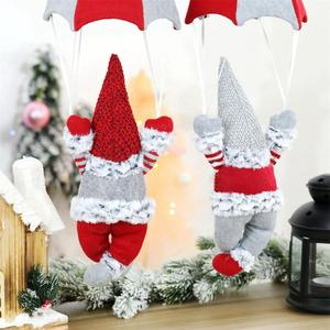 Рождественские украшения Санта Клаус подвеска в форме парашюта безликая кукла подвеска рождественское окно висячие украшения подарки